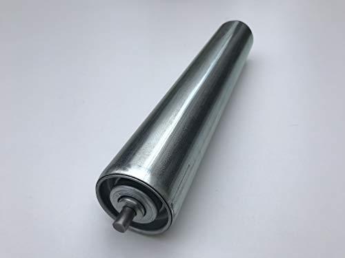 rodillo portador rodillos portadores acero con eje del resorte para transportador de rodillos Ø 50 mm (longitud: 500 mm)