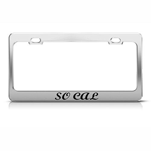 So CAL California Cadre étiquette en métal inoxydable support de plaque d'immatriculation