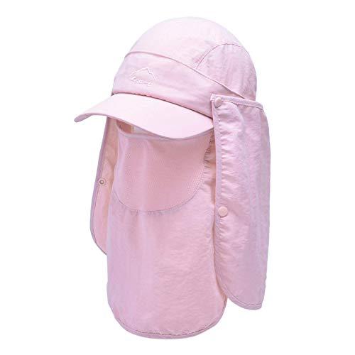 Guuisad Gorra deportiva, gorra de béisbol con protección UV, protección UV, gorra de pesca al aire libre, gorra de verano de secado rápido, gorra de béisbol (color: K68-rosa, tamaño: M (54-60cm)