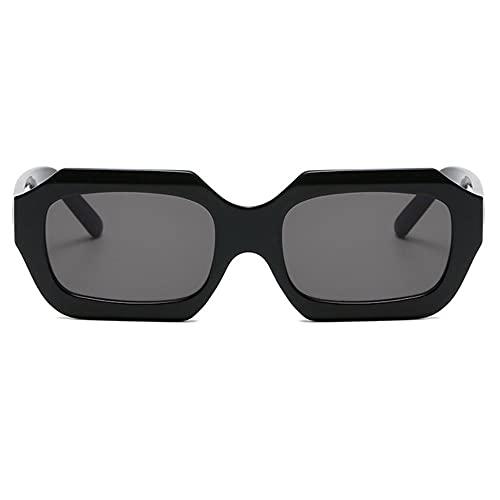 NLJ-lug Gafas De Sol De Polígono Pequeño Retro Para Mujer, Gafas De Sol Rectangulares Brillantes Retro De Moda Para Mujer, Gafas De Sol Para Mujer