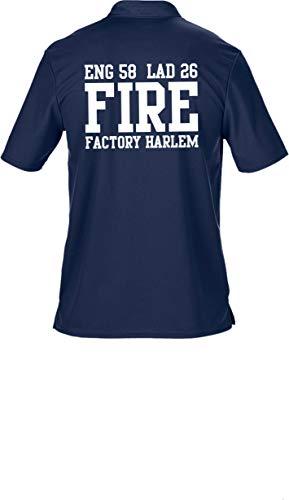feuer1 Polo Bleu Marine Multifonctions, New York Fire Department – Fire Factory Harlem 3XL Bleu Marine