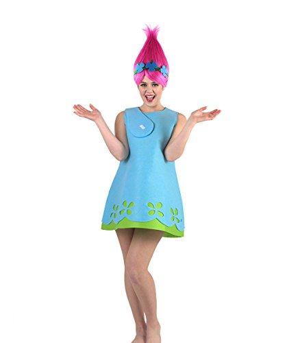 Adult Women's Magical Troll Princess Costume (XL, Blue)