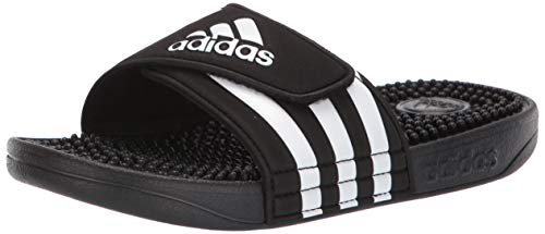 adidas Unisex-Kid's Adissage Slide, Black/White/Black, 6 M US Big Kid