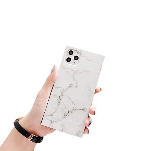 "Cocomii Square Marble iPhone 11 Pro Max Case, Slim Thin Glossy Soft Flexible TPU Silicone Rubber Gel Trunk Box Square Edges Fashion Bumper Cover Compatible with Apple iPhone 11 Pro Max 6.5"" (White)"