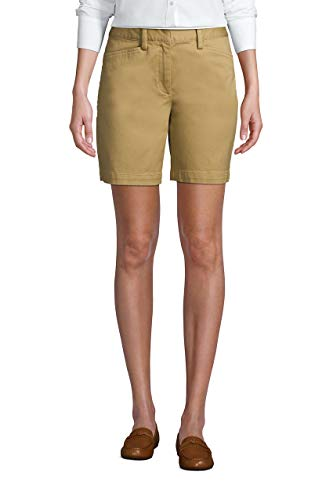 Lands' End Women Chino 7 Inch Short Desert Tan Regular 10