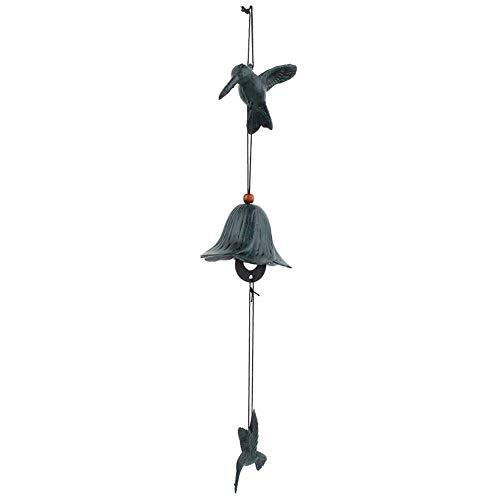 AUNMAS Traditionelle Windspiel japanischen Furin Vogel geformt Gusseisen Bronze hängenden Windbell für Home Patio Balkon Büro Dekoration Geschenk(1#)