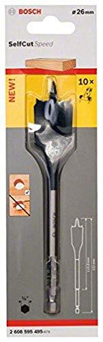 Bosch Professional Flachfräsbohrer (für Weich- und Hartholz, Durchmesser: 26 mm)