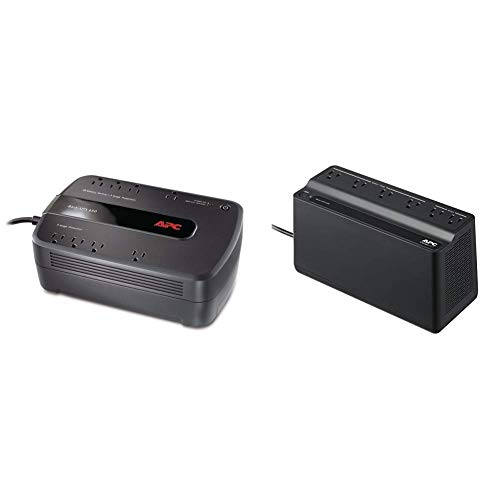 APC UPS Battery Backup & Surge Protector, 650VA, APC Back-UPS...