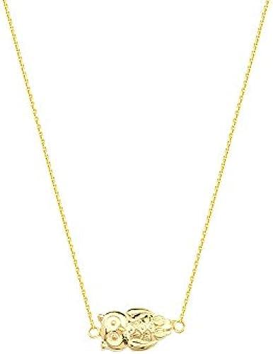 14  Gelb Gold side-ways Eule verstellbar Halskette 46cm