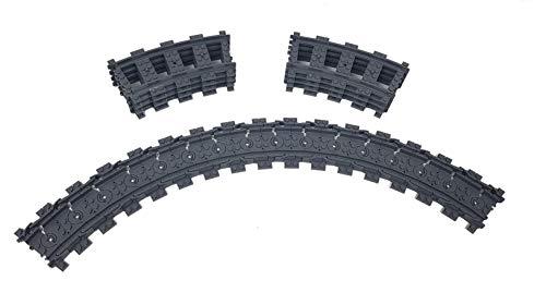 LEGO 8X Gebogene Kurvenschienen Gleise + 16x Flexible Schienen Gleise Gebogene und Flexible Schienen Gleise, City Ferngesteuerter Zug, City Eisenbahn