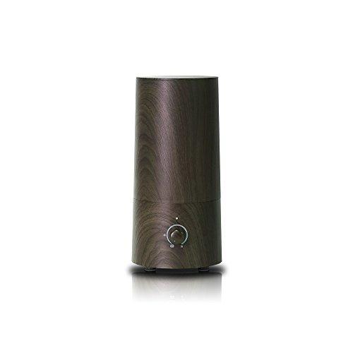 PRISMATE(プリズメイト)きれいなミストで加湿するアロマ超音波式加湿器-wood-PR-HF014W(WN(ウォールナット))