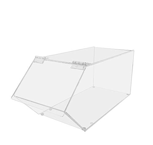 Marketing Holders Bread Pastry Bin Top Opening Dry Food Baked Goods Candy Display Clear Acrylic 7.5'w x 20'd x 10'h Lot of 1