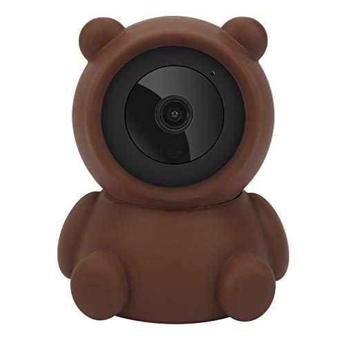 Cámara WiFi Pan/Tilt, 1080P, Estilo Oso Pardo, visión Nocturna, Seguridad de Audio bidireccional, vigilancia del hogar, para hogares, Tiendas, Empresas, restaurantes, almacenes, 100‑240 V(EU Plug)