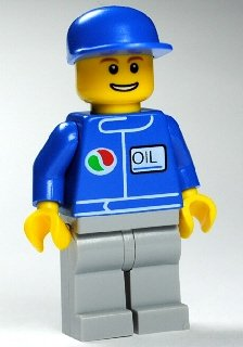 LEGO CITY - seltene MINIFIGUR MECHANIKER oct063 - Tankstelle Octan