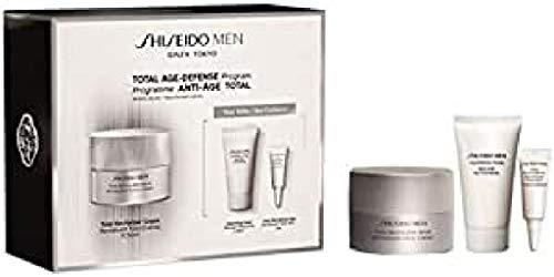 Shiseido men total revitalizer crema 50ml + jabon limpiador 30ml + contorno de ojos 3ml