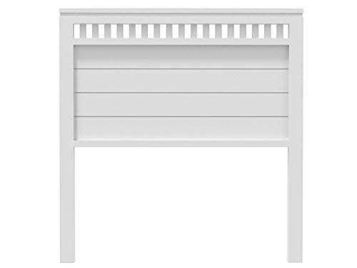 Muebles pejecar cabecero para Cama de 105 Modelo Bora Fabricado en Madera de Pino insigni Acabado en Blanco nordico