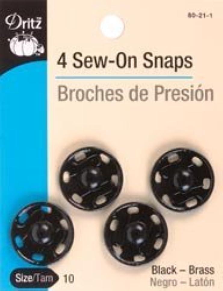 Bulk Buy: Dritz Black Sew On Snaps Size 10 4/Pkg 80-21-1 (6-Pack)