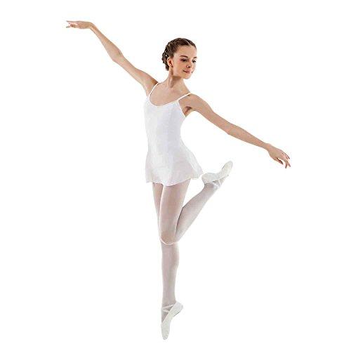 Sansha E508M AIDA Ballettanzug für Mädchen aus Meryl/Lycra – Weiß – EU 160 cm/18 Jahre (Größe Hersteller: I)