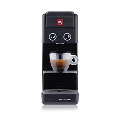 Illy Y3.3 Espresso and Coffee Machine, 12.20x3.9x10.40 (Black)