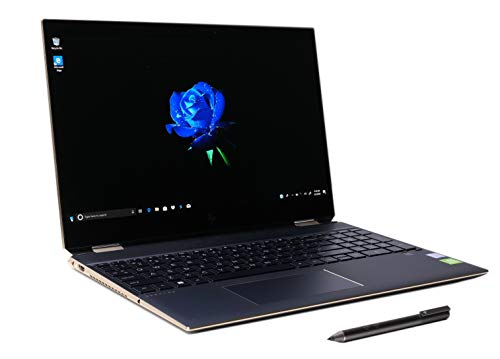 Spectre x360 15-df0070nr 2-in-1 Premium 4K OLED Laptop i7-8565U up to 4.6 GHz NVIDIA MX150 2GB FP Reader Active Stylus Pen Plus Best Notebook Pen Light (1TB SSD|16GB RAM|Win 10 Pro|Ash Gray)