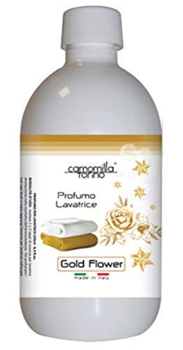 Parfüm für die Waschmaschine, Duft für die Waschmaschine, 500 ml, Wäscheduft, Wäscheparfüm, Made in Italy (Gold Flower)