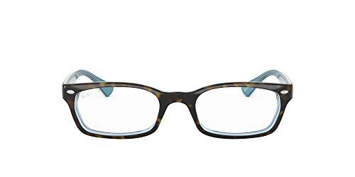 Ray-Ban Unisex-Adult RX5150 Prescription Eyeglass Frames, Top Havana On Tr Azure/Demo Lens, 50 mm