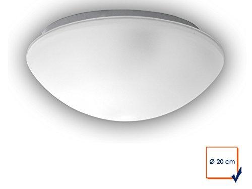 Plafonnier à LED klassissche Couverture Bol rond Ø 20 cm, satiné avec bord clair, jolie Applique LED Vestibule avec fermeture à baïonnette
