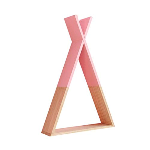 ZFF Solid Wood X Triangle Shelf Partition Creative Home Storage Shelf Color  Pink