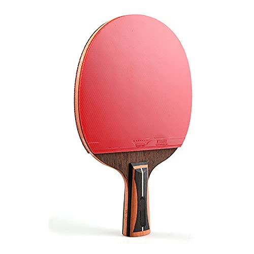 LINGOSHUN Raquetas de Tenis de Mesa Profesional con Estuche,Paleta de Ping Pong de Carbono Avanzada para Entrenamiento de Alto nivel,Aprobada por la ITTF / 15 Stars/Short handle