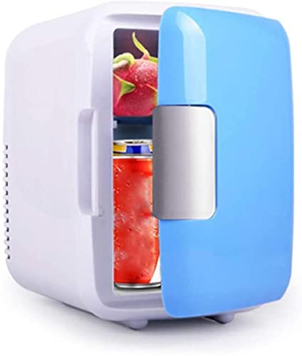 Mini refrigerador de 4 litros, refrigerador portátil pequeño, dormitorio, oficina de caravana, refrigerador con función de refrigeración y preservación del calor