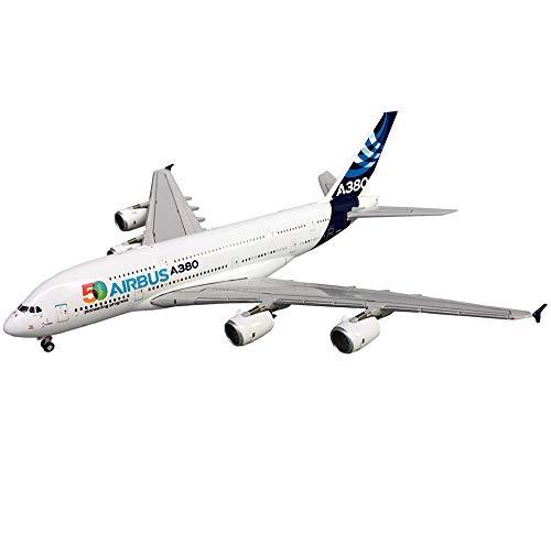 X-Toy Airbus Flugzeug Modell, 1/400 Maßstab Airbus A380 Flugzeug 50Th Anniversary Legierung Modell, Erwachsene Collectibles Und Geschenke, 7,2Inch X 7.9Inch