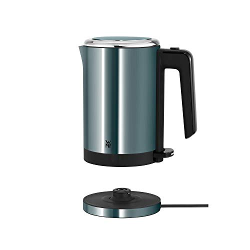 WMF Küchenminis Wasserkocher (1800 W, klein 0,8l, Reisewasserkocher, Teekocher kabellos, Kochstoppautomatik) cromargan matt/ metallic blau
