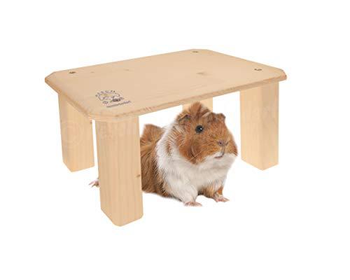 Resch Nr41 Unterstand M, naturbelassenes Massivholz aus Fichte/Perfekt für Kaninchen oder Meerschweinchen zum Verstecken / 30,6x18,4x16,5cm (LxBxH)