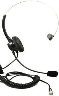 Call Center Headset Headphones + Adjustable Volume + Mute Control For Phone NEC Aspire Electra Elite DTerm Series E Models DTU-8 DTU-8D DTU-16 DTU-16D DTU-32 DTU-32D DPT-8 DPT-8D DPT-16 DPT-16D DPT-32 DPT-32D DTerm Series Aspire Ip Telephone