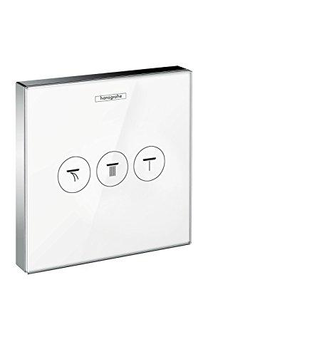 hansgrohe ShowerSelect Glas Unterputz Ventil, für 3 Funktionen, Weiß/Chrom