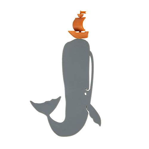 """balvi Lesezeichen Moby Dick Farbe Grau Inspiriert durch den berühmten Roman """"Moby Dick"""" Lustiges Geschenk für alle Lesefreunde Nylon/Kunststoff"""