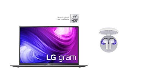 LG Gram 17 Zoll Notebook - 1,35 kg Leichter Intel Core i7 Laptop (16GB DDR4 RAM, 1 TB SSD, IPS Display, Thunderbolt 3, Windows 10 Home) - Dunkelgrau + Bluetooth Kopfhörer Tone Free HBS-FN6