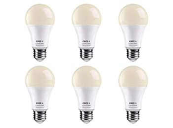 Cree Lighting Connected Max Smart LED Bulb A19 60W Dimmable Soft White 2700K Works with Alexa and Google Home No Hub Required Bluetooth + WiFi 6pk