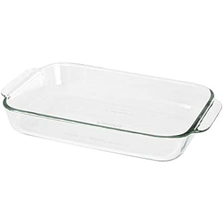 Pyrex Basics 2 Quart Glass Oblong Baking Dish, Clear 7 x 11 inch (Pack of 2)