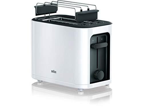 Braun-HT-3010-WH-Toaster-Doppelschlitz-Herausnehmbare-Kruemelschublade-Aufwaerm-und-Auftaufunktion-7-Roestgrade-Separater-Broetchenaufsatz-Weiss