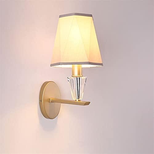Zziyj E14 Lámpara de pared Redondo Personalidad Fuente Linterna Decoración Estudio Corredor Luz de Pared Dormitorio Dedicado Cálido Ciervo Paño Simple Wall Sconence