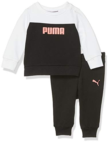 PUMA Baby Girls' Fleece Hoodie Set, Black, 0-3M