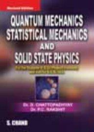 Quantum mechanics statistical mechanics   solid state