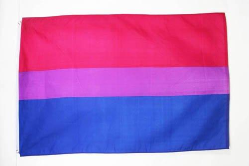 AZ FLAG Flagge BISEXUELLEN 90x60cm - BISEXUALITÄT Fahne 60 x 90 cm - flaggen Top Qualität