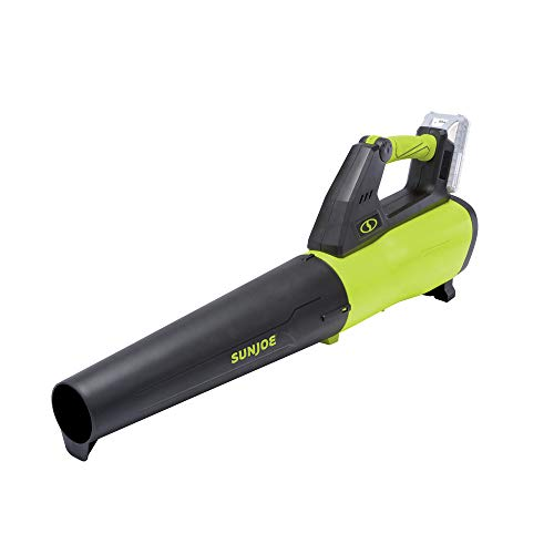 Sun Joe 24V-JB-LTE 24-Volt 385-CFM Amp Turbine Cordless Jet Leaf Blower, Kit (w/2.0-Ah Battery + Quick Charger)