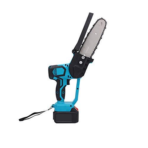 GYNFJK Mini Motosierra eléctrica Recargable 21V batería de Litio podadora de Ramas de árbol podadora Herramienta de jardín,1 Battery