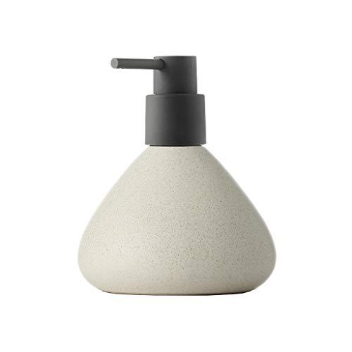 WHL Recargable Cerámica emulsión dispensadora Prensa Botella vacía hogar Hotel champú Gel de Ducha jabón de Manos Gran Capacidad Dispensador de líquido