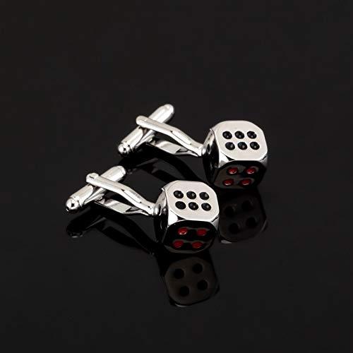 jiao Fashion Manschettenknopf für Herrenhemd Markenanzug Silber Manschettenknöpfe Manschettenknöpfe Schmuck