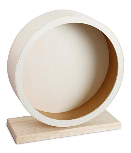 Dehner Kleintierzubehör Laufrad Motion, Ø 30 cm, Holz, natur