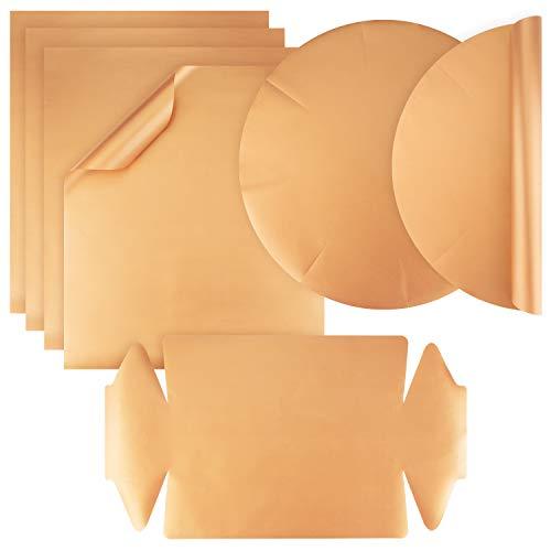 vitalish® PREMIUM Dauerbackfolie für Backofen & Grill I Backpapier wiederverwendbar I 7er Set: 4x Backpapier Zuschnitte, 2x Springform rund, 1x Backpapier Kastenform I Zero Waste Backfolie